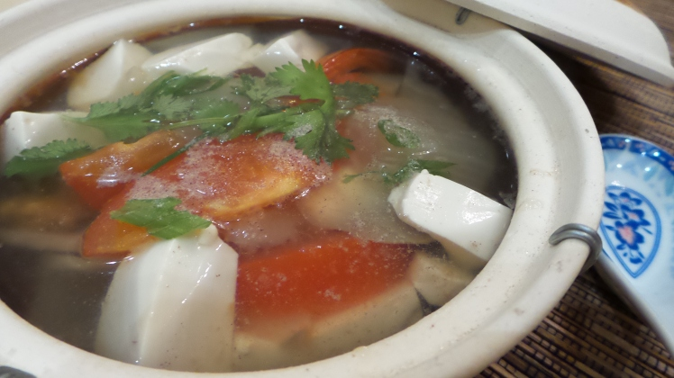 Salted Vegetables Tofu Soup
