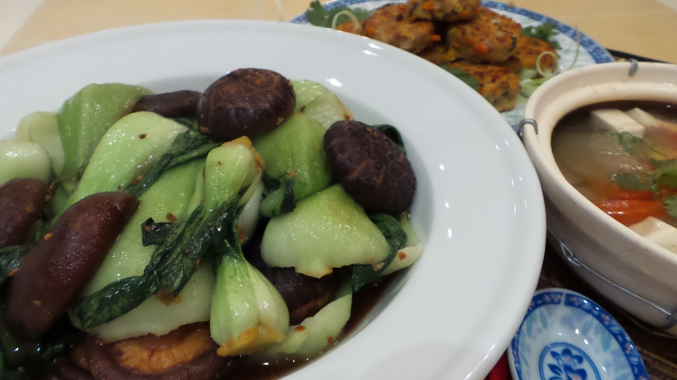 Baby Bok Choy with Mushrooms